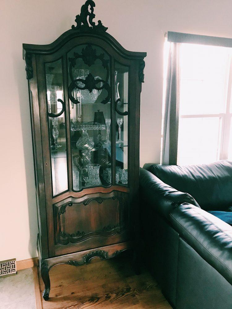 crystal china cabinet