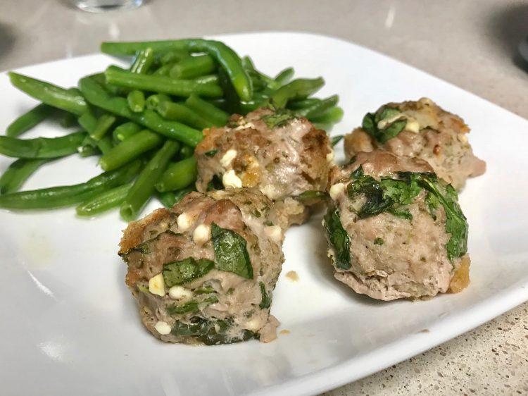 Spinach and Feta Greek Turkey Meatballs